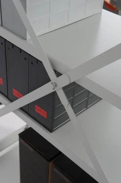 Kreuzdiagonale für Anbauregale 1.000 mm (genietet)
