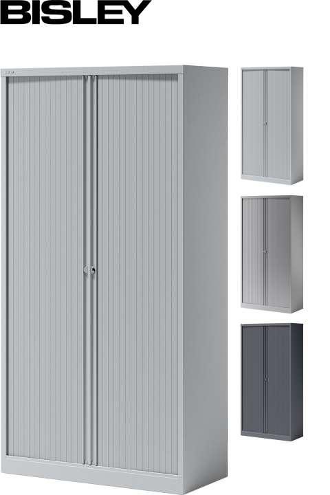 Bisley Essentials Rollladenschrank 1.000 mm Breite mit 4 Fachböden ...