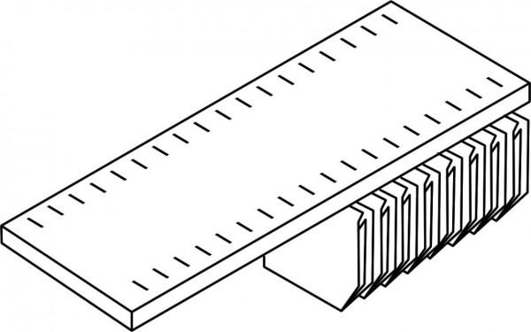 Fachboden mit Schlitzen und Lateralhängevorrichtung - 1.000 mm