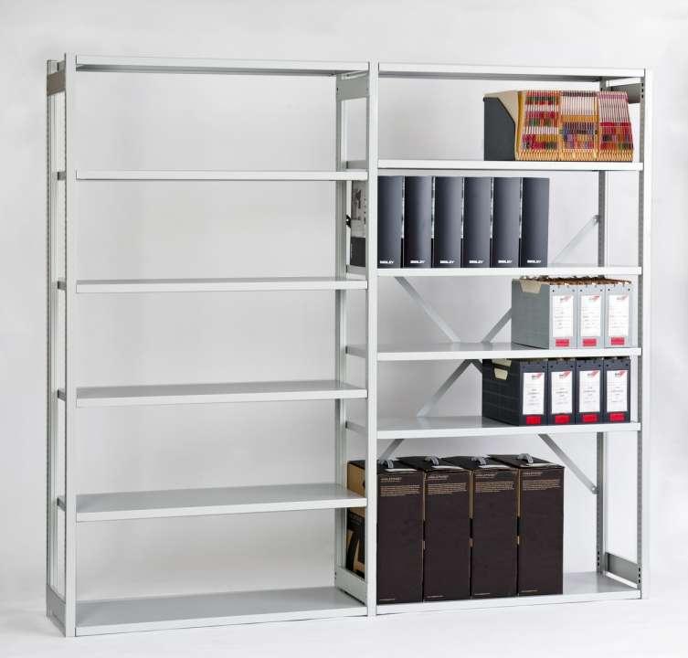 bisley system b roregale light regal f r aktenordner stahlregal hier versandfrei bestellen. Black Bedroom Furniture Sets. Home Design Ideas