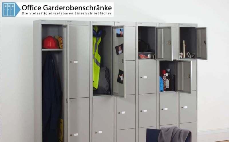 Bisley Garderobenschränke mit bis zu sechs Fächern   Bisley-Shop.de